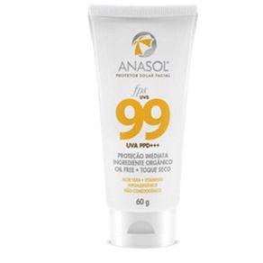 Anasol-Protetor-Solar-Facial-Fps99-60g-Hipoalergenico---Toque-Seco---Argila---Aloe-Vera---Vitaminas-