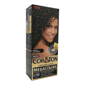 Coloracao-Creme-Cor-Ton-Mega-Colors-Preto-Onix