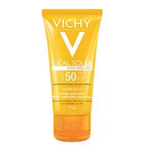 Protetor-Solar-Facial-Vichy-Ideal-Soleil-FPS50-Antibrilho-40g